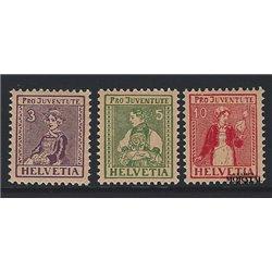 1969 - Suiza Ed 841/845 ** MNH Perfecto Estado. Celebridades (Edifil)