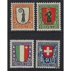 1973 - Suiza Ed 926/929 © Usado, Buen Estado. Pro Patria 73 (Edifil)