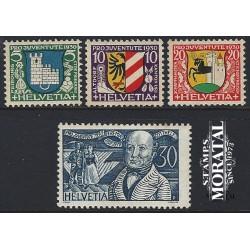 1974 - Suiza Ed 968/971 ** MNH Perfecto Estado. Serie Corriente (Edifil)