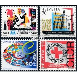 2005 - Suiza Ed 1844/1847 ** MNH Perfecto Estado. Pro Patria 05. Edificios (Edifil)