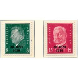1936 - Francia Yv 314/315 * MH Buen Estado. Claude Rouget de Lisle (Edifil)
