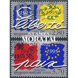 1995 France  Sc# 2473/2474  (o) Used, Nice. Europa (Scott)