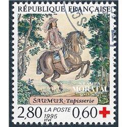 1995 France  Sc# b663  (o) Used, Nice. Red Cross (Scott)  Red Cross