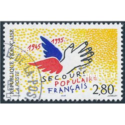 1995 France  Sc# 2478  (o) Used, Nice. People Relief (Scott)