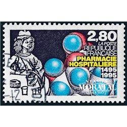 1995 France  Sc# 2495  (o) Used, Nice. Hospital Pharmacy (Scott)  Art
