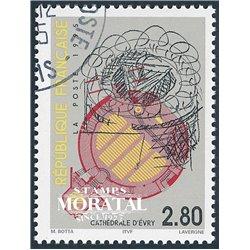 1995 Frankreich Mi# 3125  (o) Gebrauchte, Zustand. Kathedrale von Evry (Michel)  Sport