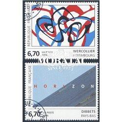 1996 Frankreich Mi# 3127/3128  (o) Gebrauchte, Zustand. Kunstwerke (Michel)