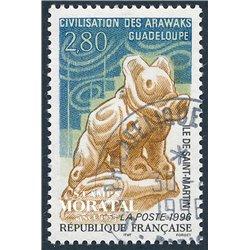 1996 France  Sc# 2506  (o) Used, Nice. Civilization Arawuaks (Scott)  Art