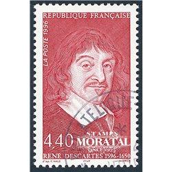 1996 Frankreich Mi# 3139  (o) Gebrauchte, Zustand. Rene Descartes (Michel)