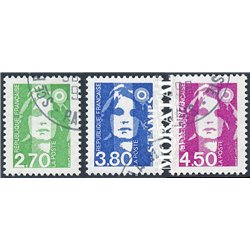 1996 France  Sc# 2335, 2337, 2339  (o) Used, Nice. Marianne (Scott)  Generic Series