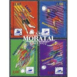 1996 France  Sc# 2530/2533  (o) Used, Nice. World Cup Soccer Championship (Scott)  Art