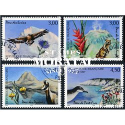 1997 France  Sc# 2569/2572  (o) Used, Nice. Natural parks (Scott)  Europe