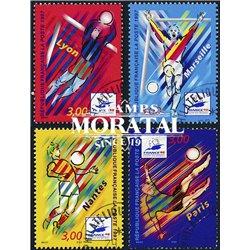 1997 Frankreich Mi# 3218/3221  (o) Gebrauchte, Zustand. FuBballweltmelsterschaft (Michel)