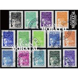 1997 France  Sc# 2589/2603  (o) Used, Nice. Marianne (Scott)  Generic Series