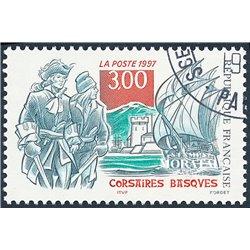 1997 France  Sc# 2607  (o) Used, Nice. Basque Corsairs (Scott)  Art