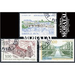 1997 Frankreich Mi# 3245/3246, 3251  (o) Gebrauchte, Zustand. Landschaften (Michel)