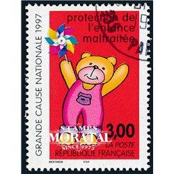 1997 France  Sc# 2618  (o) Used, Nice. Child Abuse (Scott)