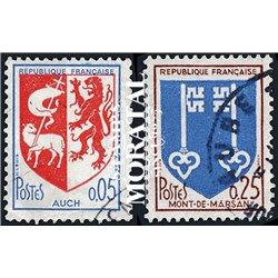1966 Frankreich Mi# 1534A/1535A  (o) Gebrauchte, Zustand. Städtewappen (V) (Michel)  Schild