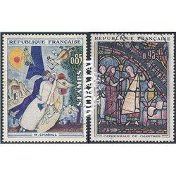 1963 Frankreich Mi# 1452/1453  (o) Gebrauchte, Zustand. Kunstwerke (Michel)  Art