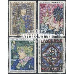 1964 Frankreich Mi# 1487, 1492, 1504, 1513  (o) Gebrauchte, Zustand. Kunstwerke (Michel)  Art