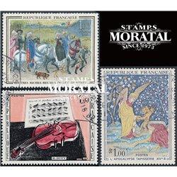 1965 Frankreich Mi# 1523, 1527, 1529  (o) Gebrauchte, Zustand. Kunstwerke (Michel)  Art