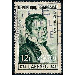 1952 France  Sc# 685  (o) Used, Nice. René Laennec (Scott)  Personalities