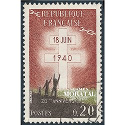 1960 France  Sc# 967  (o) Used, Nice. French Resistance (Scott)  Anniversaries