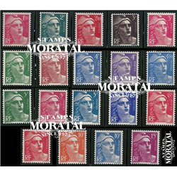 1945 France  Sc# 535/537, 539/547, 577/580  ** MNH Very Nice. Marianne (Scott)  Generic Series