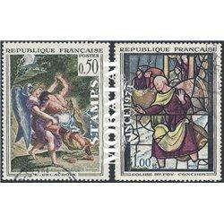 1963 Frankreich Mi# 1426/1427  (o) Gebrauchte, Zustand. Kunstwerke (Michel)  Art