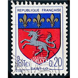 1966 France  Sc# 1143  (o) Used, Nice. Arms of Various Cities (VI) (Scott)  Shield