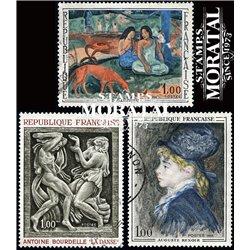 1968 Frankreich Mi# 1635, 1640, 1643  (o) Gebrauchte, Zustand. Kunstwerke (Michel)  Art