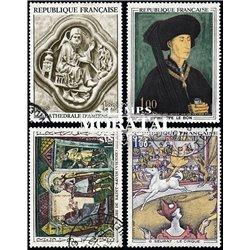 1969 Frankreich Mi# 1654, 1667, 1677, 1687  (o) Gebrauchte, Zustand. Kunstwerke (Michel)  Art