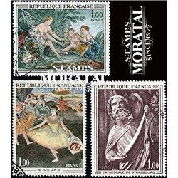 1970 Frankreich Mi# 1725, 1732, 1737  (o) Gebrauchte, Zustand. Kunstwerke (Michel)  Art