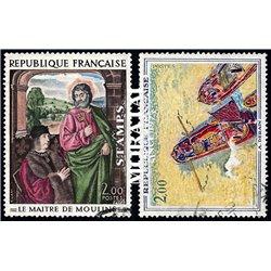 1972 France  Sc# 1329/1330  (o) Used, Nice. Artworks (Scott)  Art