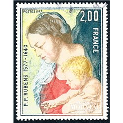 1977 France  Sc# 1518  (o) Used, Nice. Table Rubens (Scott)  Painting