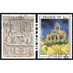 1979 France  Sc# 1626/1627  (o) Used, Nice. Artworks (Scott)  Art