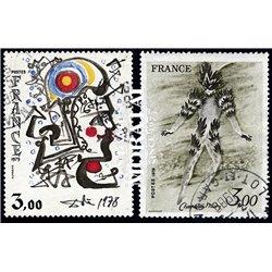 1979 France  Sc# 1628/1629  (o) Used, Nice. Artworks (Scott)  Art