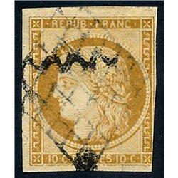 1849 Francia Yv 1  (o) Usado, Buen Estado. Tipo Ceres (Yvert&Tellier)