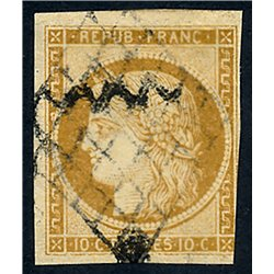 1849 France  Sc# 1  (o) Used, Nice. Type Ceres (Scott)