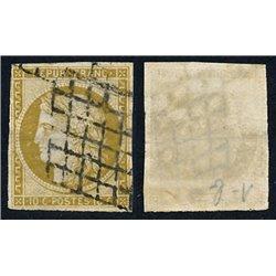 1849 Francia Yv 1b  (o) Usado, Buen Estado. Tipo Ceres 10 c. (Yvert&Tellier)