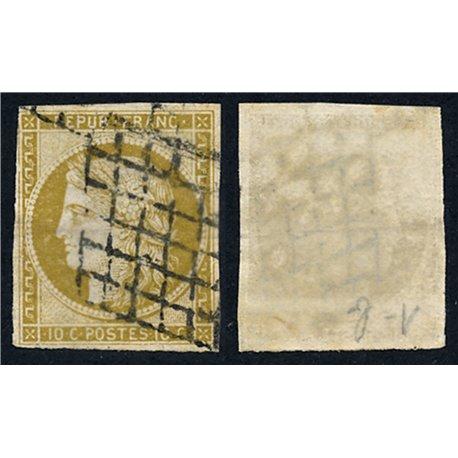 1849 Frankreich Mi# 1b  (o) Gebrauchte, Zustand. Cereskopf 10 c. (Michel)