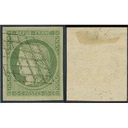 1849 France  Sc# 2  (o) Used, Nice. Type Ceres 15 c. (Scott)