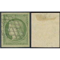 1849 Francia Yv 2  (o) Usado, Buen Estado. Tipo Ceres 15 c. (Yvert&Tellier)