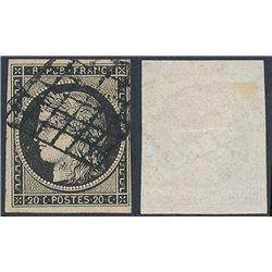 1849 Francia Yv 3a  (o) Usado, Buen Estado. Tipo Ceres 20 c. (Yvert&Tellier)