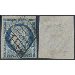 1849 Francia Yv 4  (o) Usado, Buen Estado. Tipo Ceres 25 c. (Yvert&Tellier)