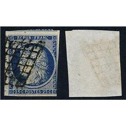 1849 Francia Yv 4a  (o) Usado, Buen Estado. Tipo Ceres 25 c. (Yvert&Tellier)