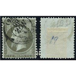 1862 Francia Yv 19 Napoleon III  (o) Usado, Buen Estado  (Yvert&Tellier)