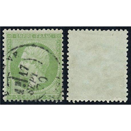 1862 France  Sc# 23  (o) Used, Nice. Napoleon III (Scott)