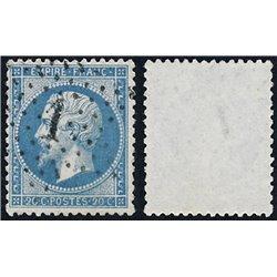1862 Francia Yv 22  (o) Usado, Buen Estado. Napoleon III (Yvert&Tellier)
