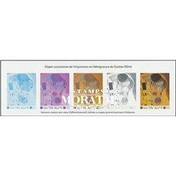 2002 France  Sc# 2870  ** MNH Very Nice. Gustav Klimt. Successive stages of printing (Scott)